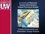 UWSA Energy Conservation & Renewable Energy Projects
