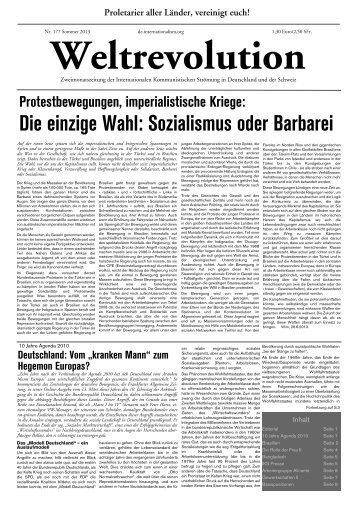 Die einzige Wahl: Sozialismus oder Barbarei - Internationale ...