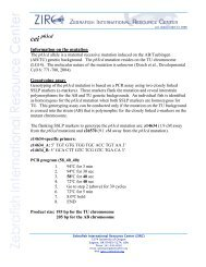 Information on the mutation Genotyping assay - Zebrafish ...