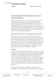 Lotteriinspektionens policy mot mutor och bestickning