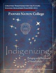 Strategic Development Plan 2009- 2014 - Pawnee Nation College