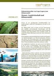 Wasser, Landwirtschaft und Klimawandel - Copa-Cogeca