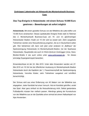 """""""Zurbrüggen Lattenknaller"""" - Montanhydraulik Business-Cup"""