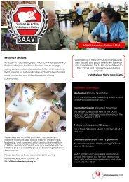 SAAVI NEWSLETTER Edition #1 - Sept 2012 - Volunteering Qld