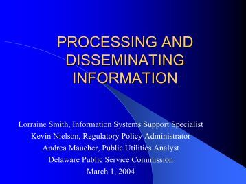 Physical Capabilities for Processing and Disseminating Information