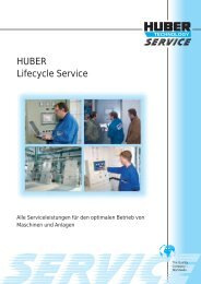 HUBER Lifecycle Service - Hans Huber AG