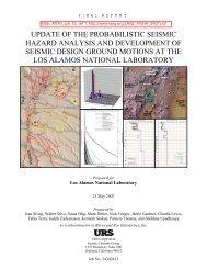 update of the probabilistic seismic hazard analysis and development ...