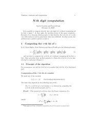 N-th digit computation - Numbers Computation Free