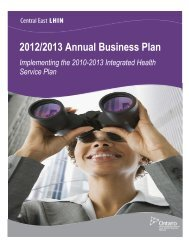 13 Annual Business Plan - Central East Local Health Integration ...