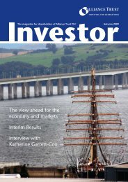 Investor Magazine Autumn 2009 - Alliance Trust