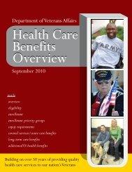 VA Health Care Benefits Overview Brochure - US Department of ...