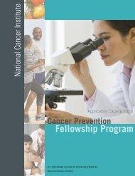 National Cancer Institute - Cancer Prevention Fellowship Program ...