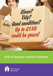 End of Tenancy Incentive Scheme - Your Homes Newcastle