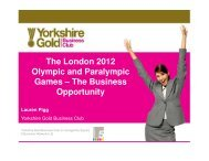 The London 2012 Olympic and Paralympic Games ... - Hull.co.uk