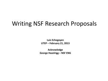 common research proposal