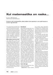 Kui matemaatika on raske... (Irja Rebane) - Haridus