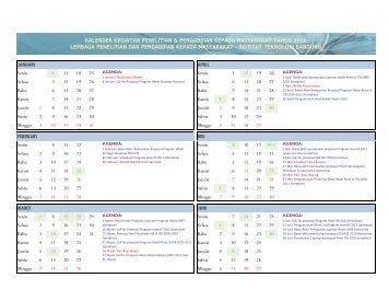 Kalender 2010 versi 11 Jan 2010 - Lembaga Penelitian dan ...