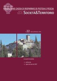 n.22 - Gennaio/Febbraio 2008 - Fondazione Cassa di Risparmio di ...
