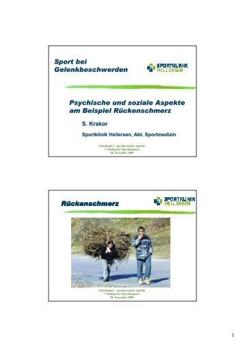 Sport bei Gelenkbeschwerden - Psychische und soziale Aspekte am ...