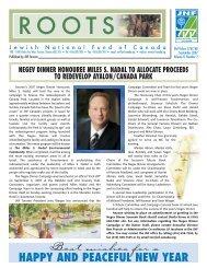 fall 2007 - JNF TORONTO - Jewish National Fund of Canada