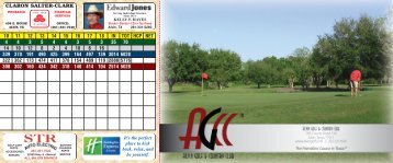 Printable scorecard - Alvin Golf & Country Club