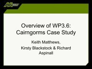 Overview of WP3.6 - The Macaulay Land Use Research Institute