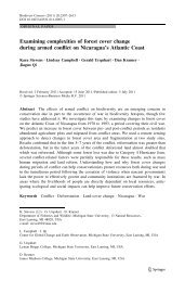 Examining complexities of forest cover change during armed conflict ...