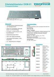 Edelstahltastatur EKM-01 Frontpanel-Einbau