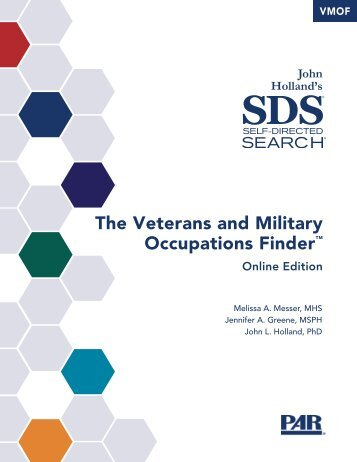 The Veterans and Military Occupations Finder™ - Self Directed Search