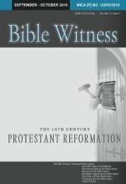 The 16th-Century Protestant Reformation - Bible Witness Media ...
