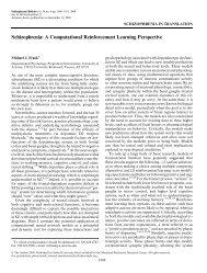 Schizophrenia: A Computational Reinforcement ... - Michael Frank
