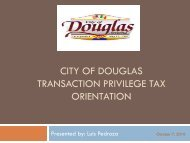 sales tax - City of Douglas Arizona