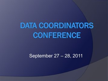 Data Coordinators Conference - Texas Juvenile Justice Department