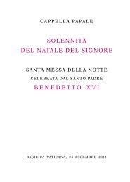 Libretto della Celebrazione - La Santa Sede