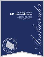 2013 Ambassador Reception - State Hygienic Laboratory