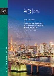 framework elements for assessing urban environmental ... - UNEP