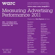 Measuring Advertising Performance 2011 - Warc