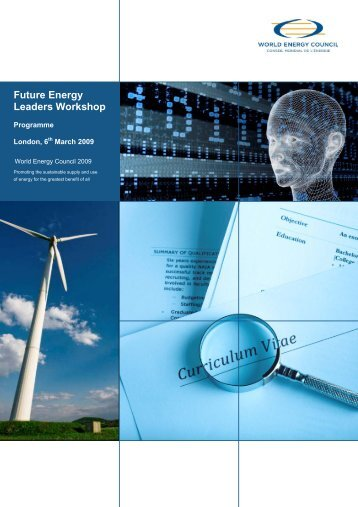 Future Energy Leaders Workshop London, 6 - World Energy Council