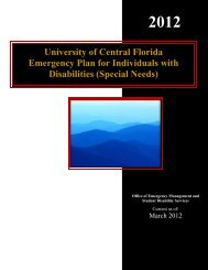 Special Needs - UCF Facilities and Safety - University of Central ...