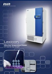 Ultra-low Temperature Freezers - Esco