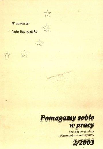 Wnumerze: ° Unia Europejska - Bibliotekarz Opolski