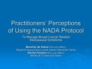 Practitioners' Perceptions of Using the NADA Protocol