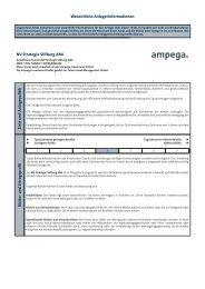 Wesentliche Anlegerinformationen NV Strategie Stiftung AMI Ziele ...