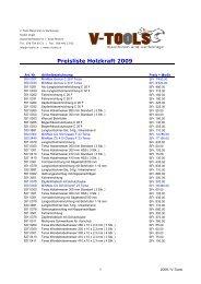 Preisliste Holzkraft 2009 - v-tools