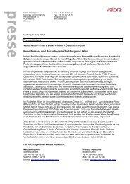Neue Presse- und Buchshops in Salzburg und Wien - Valora