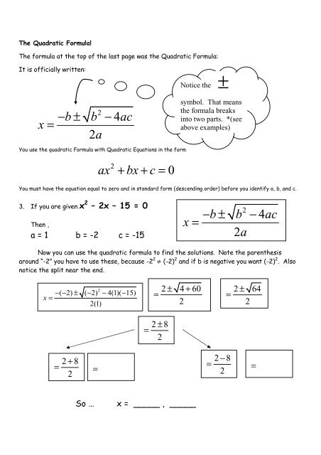 13.4 HW Quadratic Formula Worksheet Intro.pdf