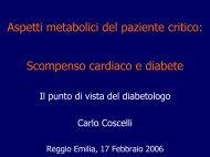Scompenso cardiaco e diabete - Azienda USL di Reggio Emilia