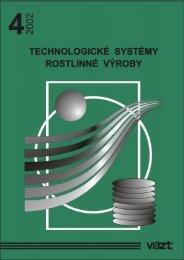 Příručka 2002/4 - Technologické systémy rostlinné výroby - SVT