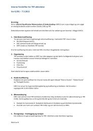 Interne Forskrifter for TRF aktiviteter Ver 0,991 – 7.3 ... - Distrikt 2305