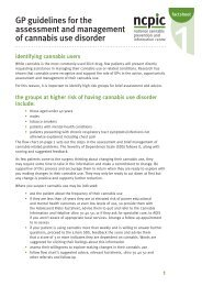 GP guidelines for the assessment and management of cannabis use ...